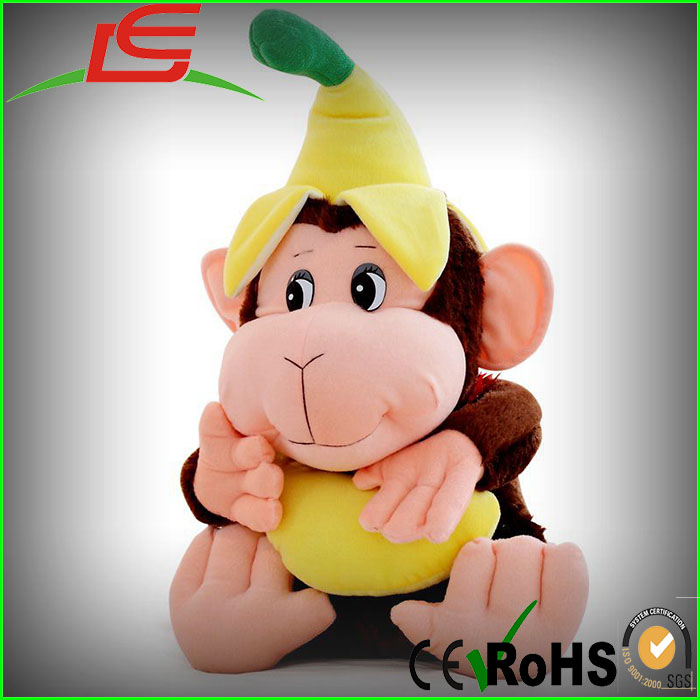 hot Banana Gorilla plush toy gift big mouth monkey