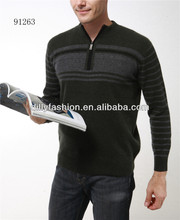 hot sale soft pullover with half zip knitted latest sweater design for man