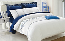 100% cotton luxury embroid hotel bedding set