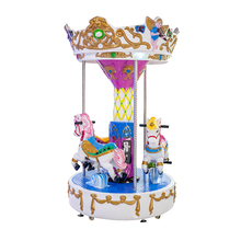 Merry go round carousel for sale inflatable christmas musical carousel rides 3 seats mini kids carousel horse
