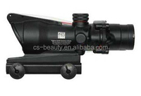 4x32 ACOG Mini Red Dot Riflescope With Real Fiber fiber Tactical Sight Gun Scope For Hunting Firearms