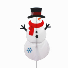 2018 newest christmas outdoor decor snowman flag