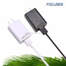 Custom Phone Charger 5V 2.1A Portable Super Fast Cell Phone Charger For iPhone &Samsung quick charger 2.0 with charging cable