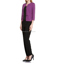 2016 New arrivel office uniform designs for women pants and blouse