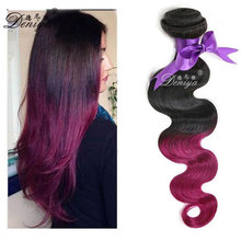 Wholesale Ombre Brazilian Hair For African American Cheap Overseas Brazilian Human Hair Weave