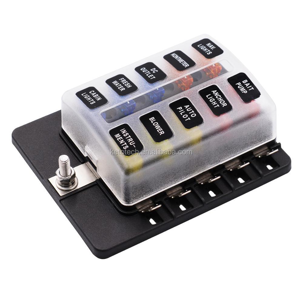10 Way Atc Ato Blade Fuse Holder Box For Auto Marine Buy 30 Amp Car