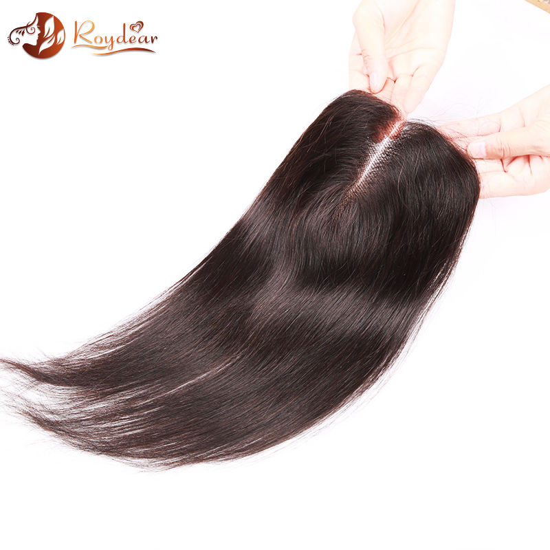 Hot sale straight Wave Virgin brazilian Human hair cheap lace closure(4*4), Natural Color