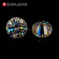 GIGAJEWE Yellowish Color 5mm 6mm 7mm 8.0mm Moissanite Diamond VVS Excellent cut SIC loose stone for jewelry price