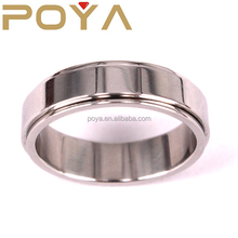 POYA Jewelry 6mm Basic Simple Stainless Steel Spinner Ring Wedding Band Polish,Laser Logo Avalible