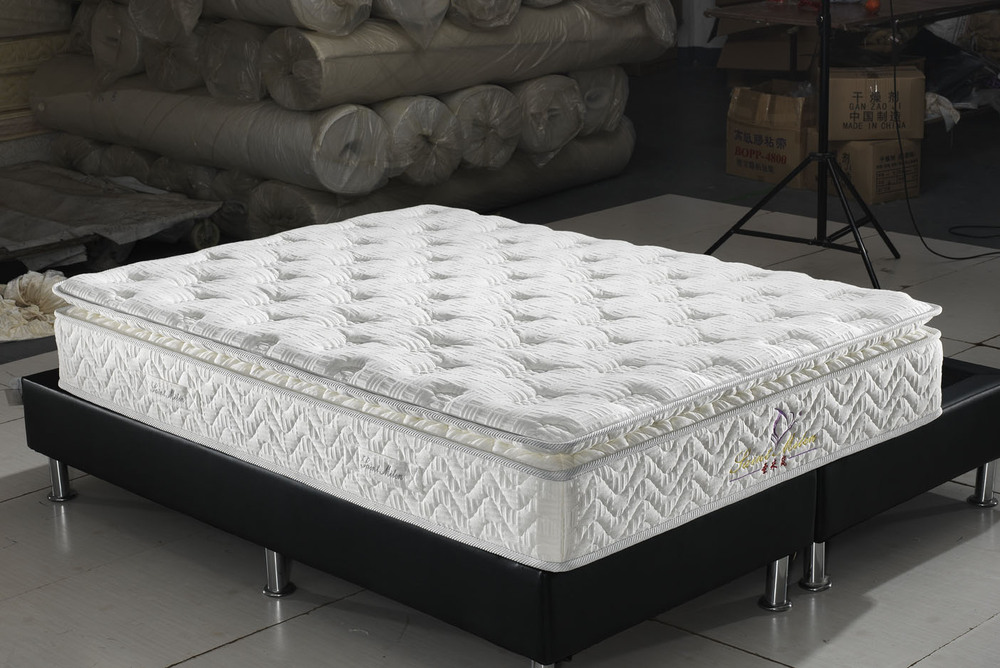 compressed pillow top pocket spring mattress
