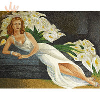 Glass mosaic hand-cut picture for wall mural oil painting