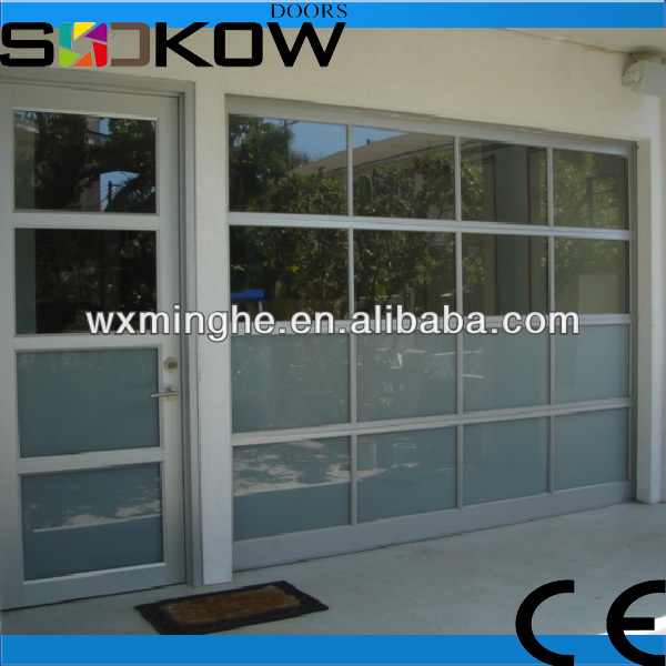 aluminum frosted glass door/industrial entry doors/aluminium glass door