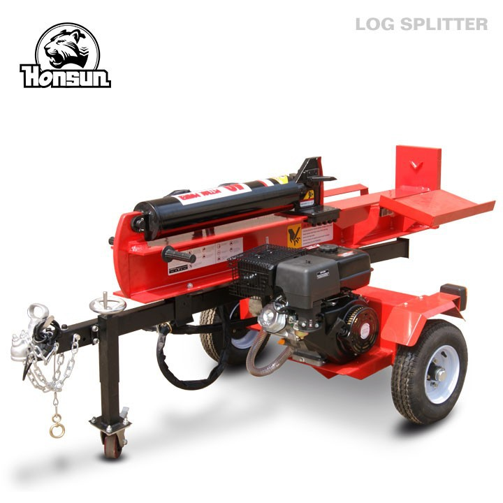 Qingdao Honsun Honda Kohler gasoline motor wood splitter fast speed large 30 T used hydraulic log splitter