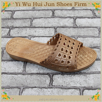 Woman Style Cork Slippers Fashionable Rainbow Flip Flops