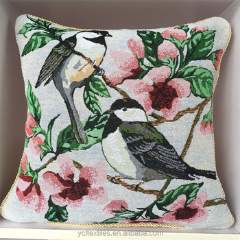 Bird Flower Design Wholesale Tapestry Cushion Pillow