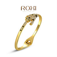 2015 Roxi New Popular jewelry Leopard Animal 18k Gold Friendship Bangles Bracelets Wholesale fashion Jewelry