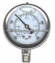 china facotry supplied full stainless steel oil filled lpg gas pressure gauge