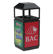 (BS-046) Outdoor Advertising Trash Can Rubbish Bin