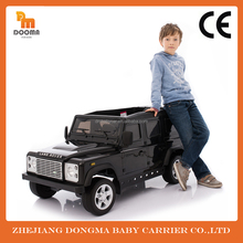 Chinese wholesale Land Rover defender license children's ride on cars with rc and two door open