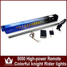 Wholesale RGB 5050 56cm car led flash knight rider light with remote rontrol led rnight rider led 12v/24v car led knight