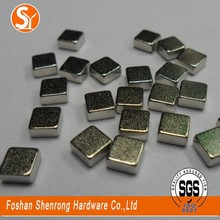 Wholesale cube shape ndfeb magnet neodymium magnets material 10*10*5mm with nickel coating from China
