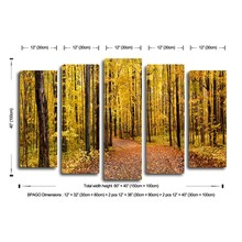 Canvas printing wall art village scenery painting