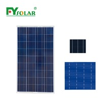130w poly solar cell solar panel
