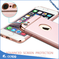 Ultra thin 3 in 1 Plating frame PC Hard Phone Case for Phone 8 Plus Cell Phones case