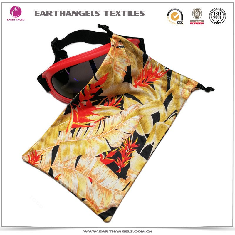 Sublimation printing microfiber ski goggles pouch