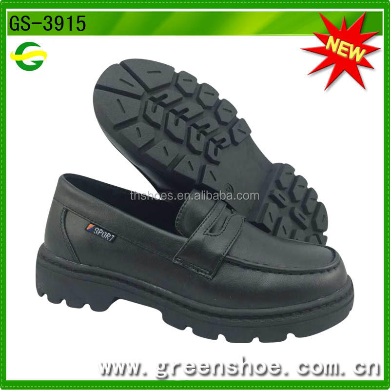 black school shoes for boys from China manufacturer
