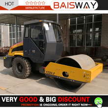 weight of 6 ton road roller for sale, Single Drum