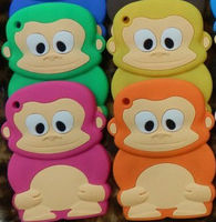 for Apple ipad mini cute 3D monkey soft silicone case lovely covers