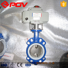 Electric WCB water flow control PEFE butterfly valve