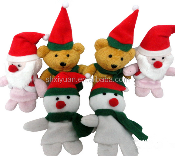 Custom animal dolls mini finger toys wholesale plush christmas doll