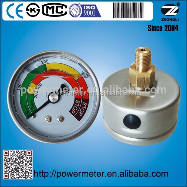 high quality safety glass customized liquid mercury prices oil filled pressure gauge