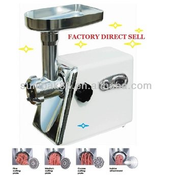Powerful aluminium meat mincer