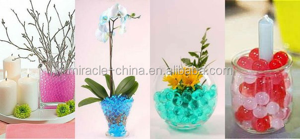 Water beads for events planning