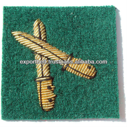 2 knife Embroidered Patch, Hand Embroidery Cap Badge, Hand embroidery badge