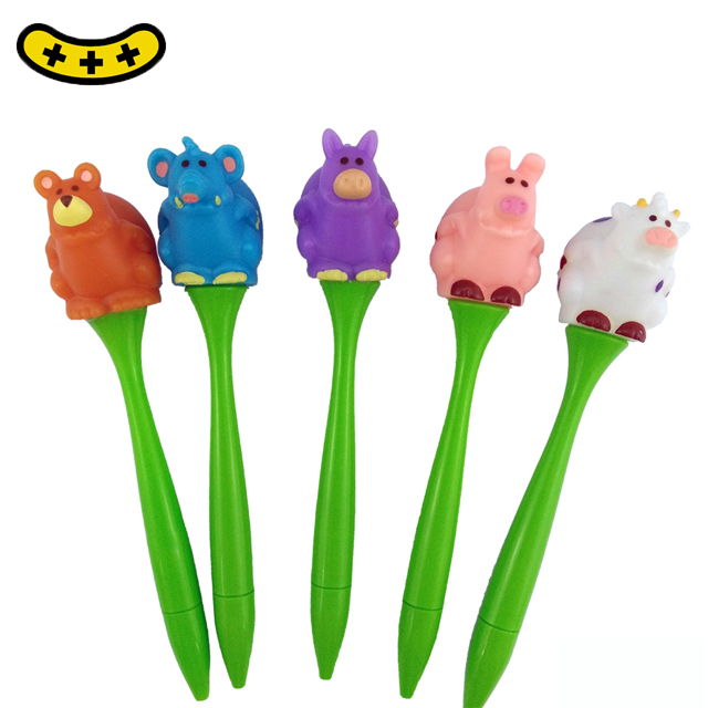 2019 Lovely Kids Fancy Stationery Set Ballpoint Pens Animal Shapes Squishy Pen
