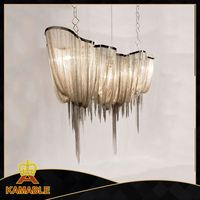 2016 Trending Hot Products modern chrome silver chain chandelier for indoor decoration