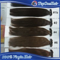 "wholesale 18"" pre bonded nail u tips cheap human hair extensions brazilian remy hair"