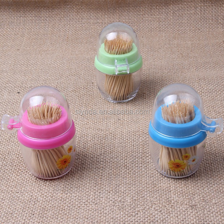 hot selling bamboo toothpick manufacturer in bottle