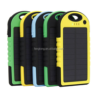 Outdoor Waterproof Solar Charger 50000mAh With Double USB LED Light Power Bank