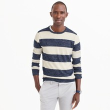 Pure cashmere wide stripe men sweater jumper