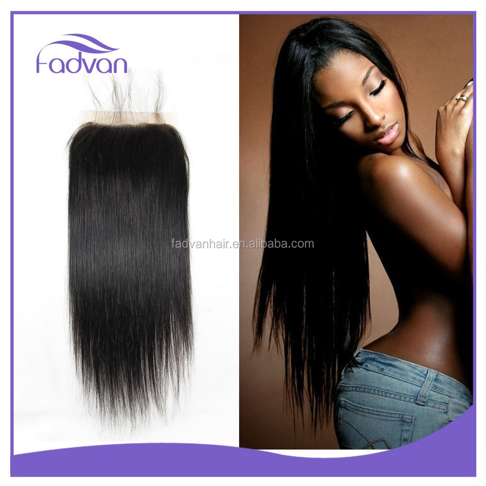 Qingdao Factory Invisible Knots Free Part Silk Base Closure Straight Hairstyle Virgin Human Hair Closure