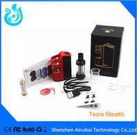 2016 Latest production Stock Offer Stealth Box Mod Vapor 100W Electronic Cigarette Tesla Stealth Mod in stock