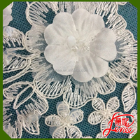 Reasonable Price Fashionable Design Applique Embroidery For Wedding Dress