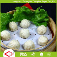 Silicone Coated Steaming Paper with Holes for Dim Sum and Bun Lining