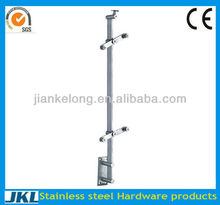 Long use-time stainless steel tubular post