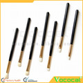 7 Pcs Long Wood Handle Wool-like Hair Face Makeup Cosmetic Brush Set